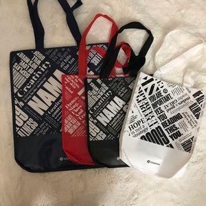 NEW Lululemon shopping bag variety bundle tote